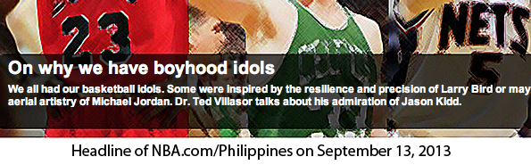 Seeing my work up on the NBA.com/Philippines website was a very humbling feeling and one that I will never take for granted. Thank you. (September 13, 2013)