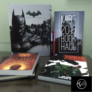 Clockwise from left to right: Batman: Arkham Origins Limited Edition Strategy Guide, Artline Stix Colouring Markers (Red and Black), Batman: Arkham Origins Limited Edition Lithographs, Batman: Under the Red Hood TPB, The Hoops Whisperer: On the Court and Inside the Heads of Basketball's Best Players, and a Black/Green Limelight Sketch Book (partially hidden)